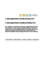 Aanvraagformulier verkort structurele subsidie 2014.pdf - gemeente ...