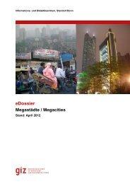 eDossier Megastädte / Megacities - GIZ