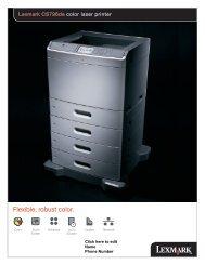 Lexmark CS796de color laser printer - International