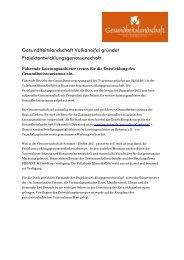 Gesundheitslandschaft Vulkaneifel gründet ...