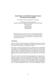 Entwicklung von Datenübertragungssystemen für mobile ... - Die GIL