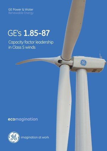 GE's 1.85-87 - GE Energy