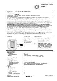 instabus EIB System System Jalousieaktor-Modul 1fach Up ... - Gira