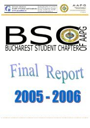 Final Report of the Bucharest Student Chapter of AAPG ... - geo.edu.ro