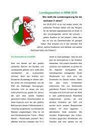 Landtagswahlen in NRW 2010 - (GdP) - Kreisgruppe Recklinghausen