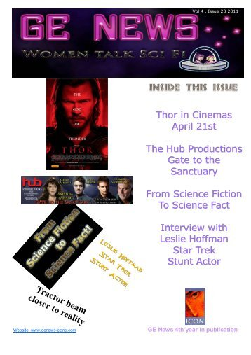 Thor in Cinemas April 21st The Hub Productions Gate to ... - GE NEWS
