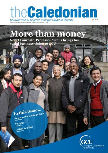 More than money - Glasgow Caledonian University
