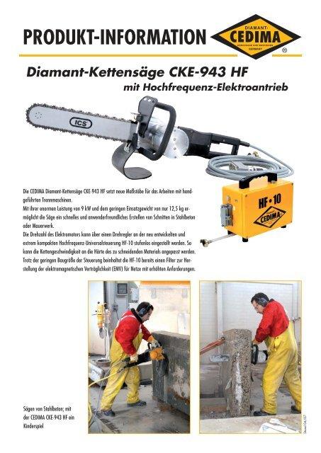 PRODUKT-INFORMATION Diamant-Kettensäge ... - CEDIMA GmbH
