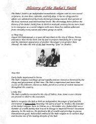 History of the Baha'i Faith