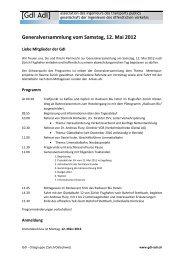 Generalversammlung vom Samstag, 12. Mai 2012 - gdi