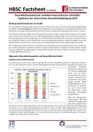 HBSC Factsheet