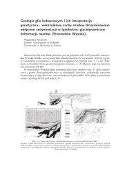 Geologia glin lodowcowych i ich interpretacja genetyczna ...