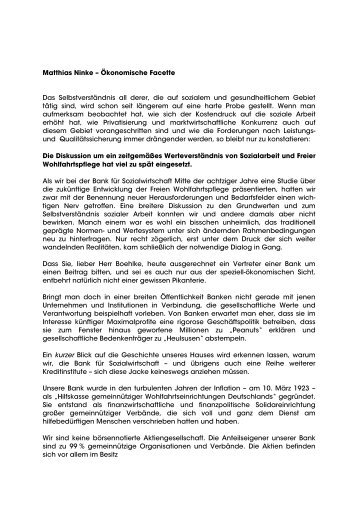 Matthias Ninke – Ökonomische Facette - GIB e.V.