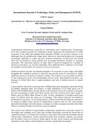 International Journal of Technology, Policy and ... - Global Innovation