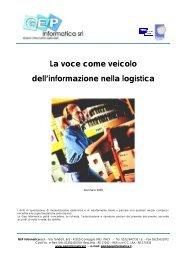 Logistica e tecnologia vocale - GEP Informatica Srl