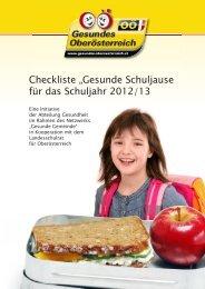 Checkliste - Netzwerk Gesunde Gemeinde - Land Oberösterreich