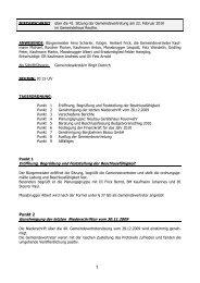 Eröffnung, Begrüßung und Feststellung der Beschlussfähigkeit Punkt 2