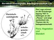 Die Floristisch-soziologische Arbeitsgemeinschaft