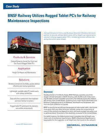 BNSF Railway Utilizes Rugged Tablet PC's for Railway ...