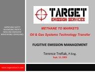 FUGITIVE EMISSION MANAGEMENT Terence Trefiak, P.Eng.