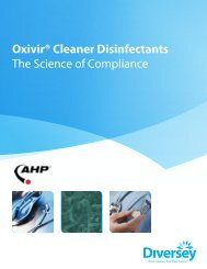 Oxivir® Cleaner Disinfectants The Science of ... - GoHospitality