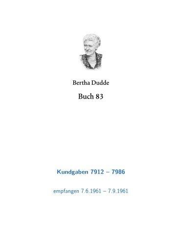Buch 83 KG. 7912 - 7986 - geistiges licht