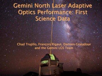 Gemini North Laser Adaptive Optics Performance: First Science Data