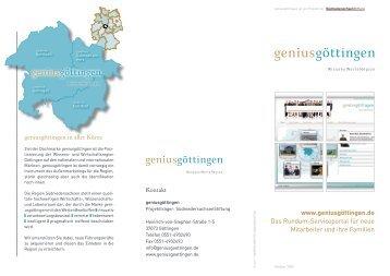 www.geniusgöttingen.de Das Rundum-Serviceportal für neue ...
