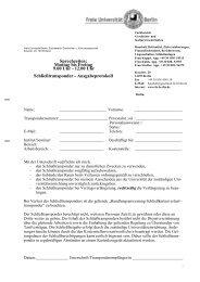 Formular - Fachbereich Geschichts - Freie Universität Berlin