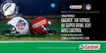 GAGNer* uN VoyAGe Au super Bowl XlVi AVec cAstrol - GM Canada