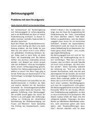 Betreuungsgeld - (GdP) - Kreisgruppe Recklinghausen