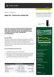 Bayer AG – Science for a better life - Jyske Bank
