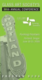 2008 Conference Program Book - Glass Art Society