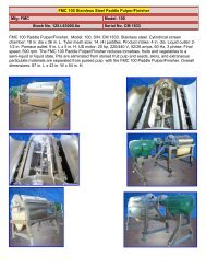 FMC 100 Paddle Pulper / Finisher Stainless Steel
