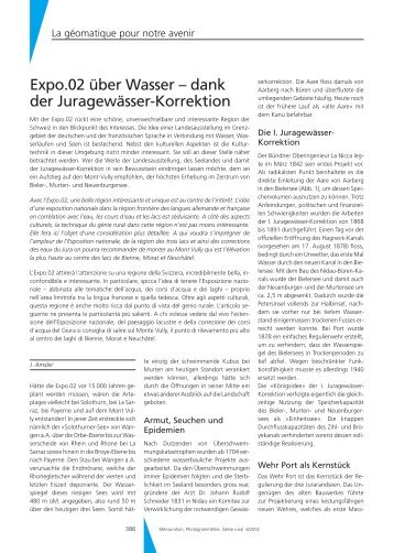 dank der Juragewässer-Korrektion - Geomatik Schweiz