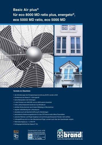 Basic Air plus® für eco 8000 MD ratio plus, energeto®, eco 5000 ...