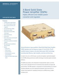 X-Band Solid State Power Amplifier (SSPA) - General Dynamics ...