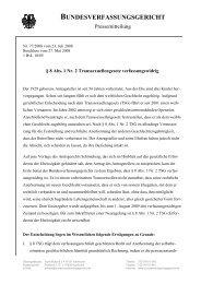 BUNDESVERFASSUNGSGERICHT - Gladt