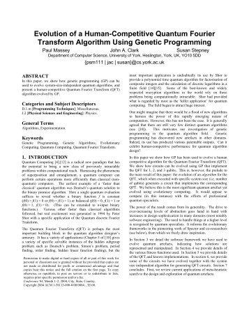Evolution of a Human-Competitive Quantum Fourier Transform