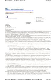 Page 1 of 2 Warning Letters > Octapharma AB 4/15/11 05.08.2011 ...