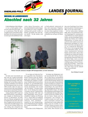 Journal Februar 2002 - gdp-deutschepolizei.de