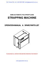 semi automatic strapping machine manual - Get Packed
