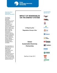 July 2011 PDF - 44 pages - Global Sustainable Electricity Partnership