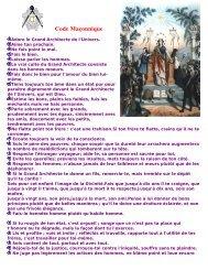 Code Maçonnique - Grand Lodge Bet-El