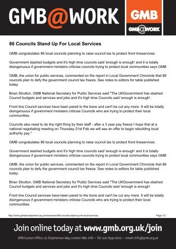 86 Councils Stand Up For Local Servicesx - GMB