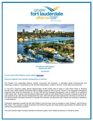 February 2013 - Enews - Broward Alliance