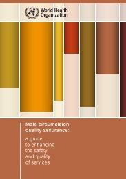 Male circumcision quality assurance - World Health Organization