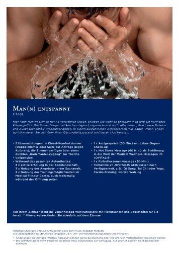 MAN(N) ENtsPANNt - Gesundheitsreise.de