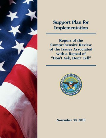 Support Plan for Implementation - Report of the ... - U.S. Coast Guard