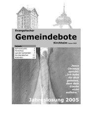 Januar 2005 - Gemeindebote